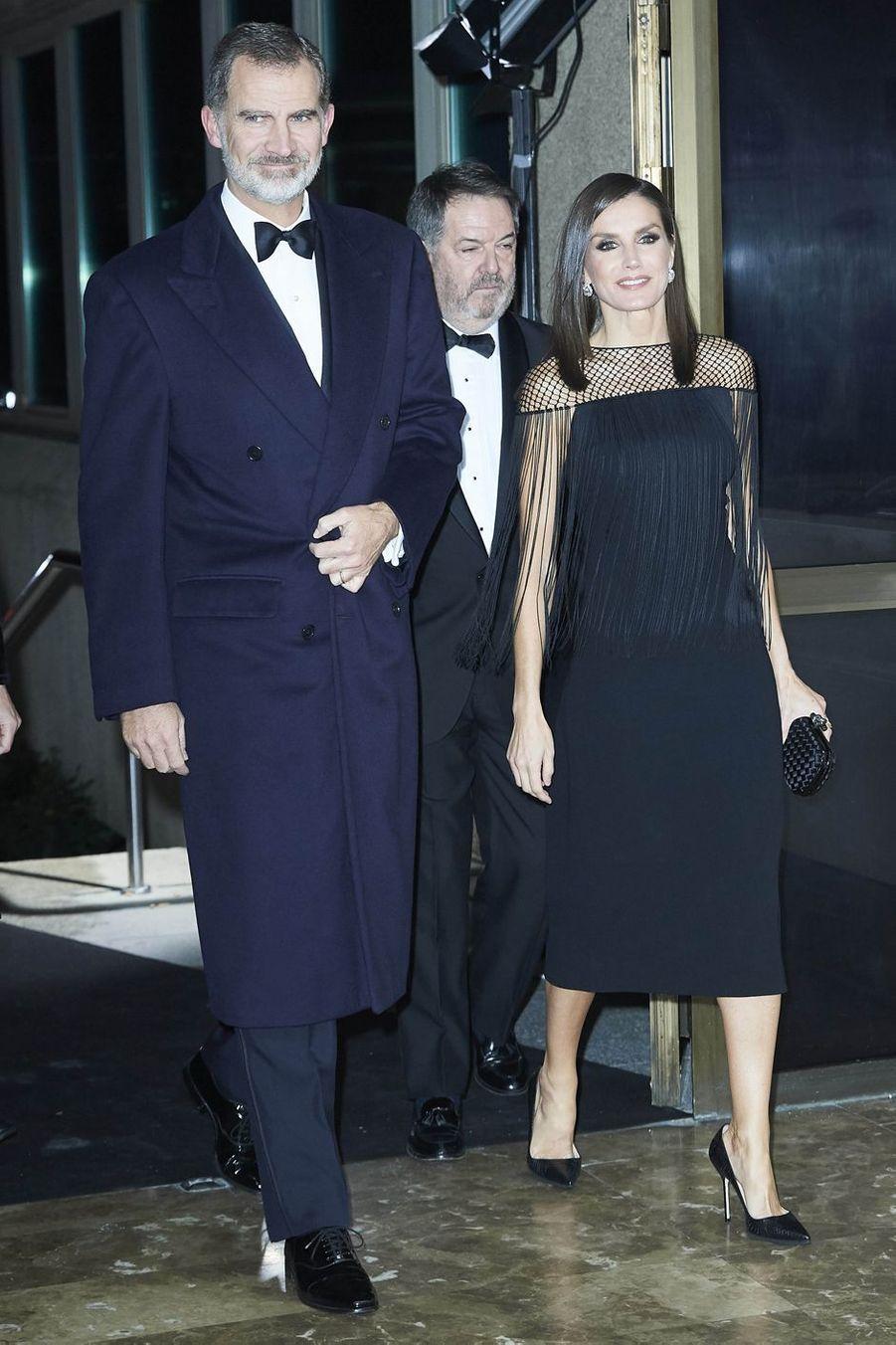 La reine Letizia et le roi Felipe VI d'Espagne, le 3 décembre 2019 à Madrid