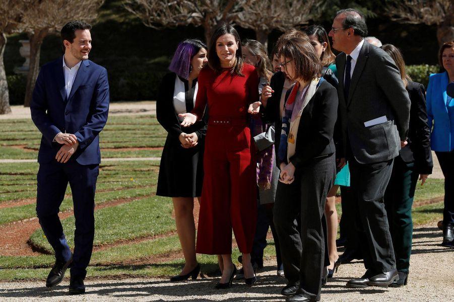 La reine Letizia d'Espagne à Madrid, le 21 mars 2019