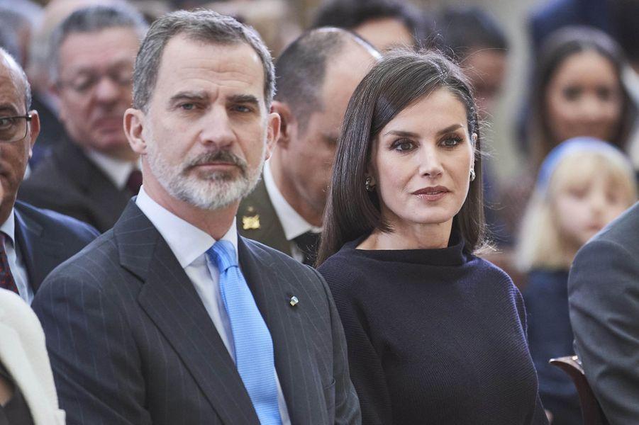 Le roi Felipe VI d'Espagne et la reine Letizia à Madrid, le 17 février 2020