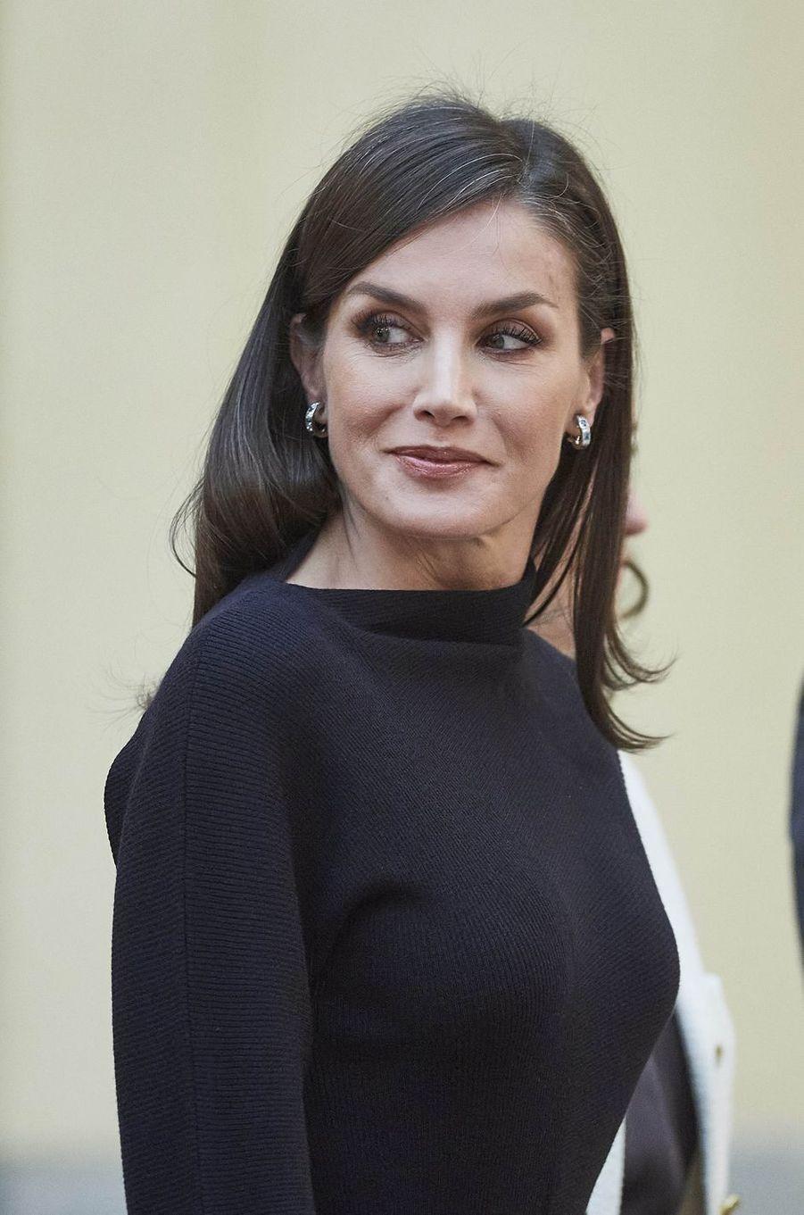 La reine Letizia d'Espagne, le 17 février 2020 à Madrid