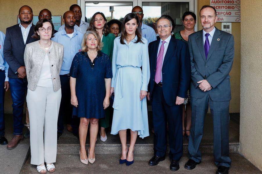 La reine Letizia d'Espagne à Maputo, le 29 avril 2019