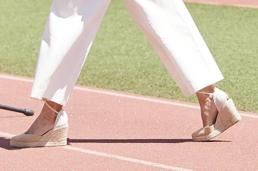 Les chaussures de la reine Letizia d'Espagne, le 8 juin 2020