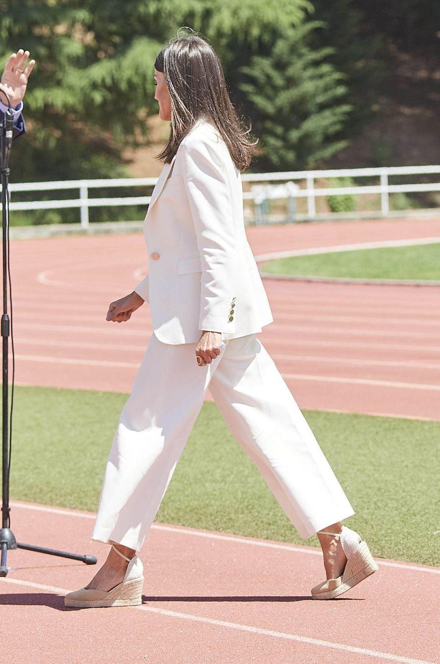La reine Letizia d'Espagne, le 8 juin 2020