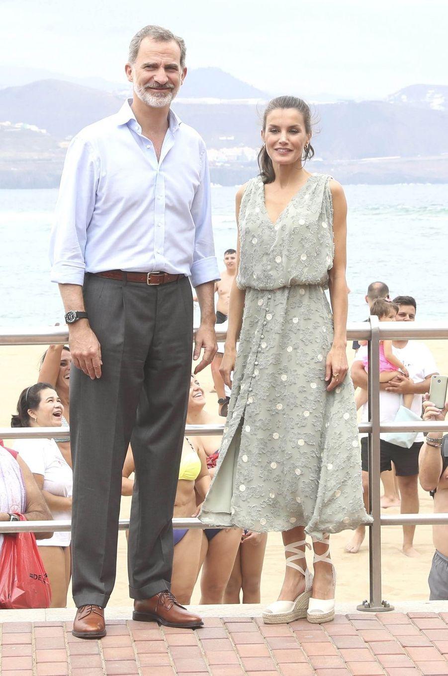 La reine Letizia d'Espagne aux Canaries, le 23 juin 2020