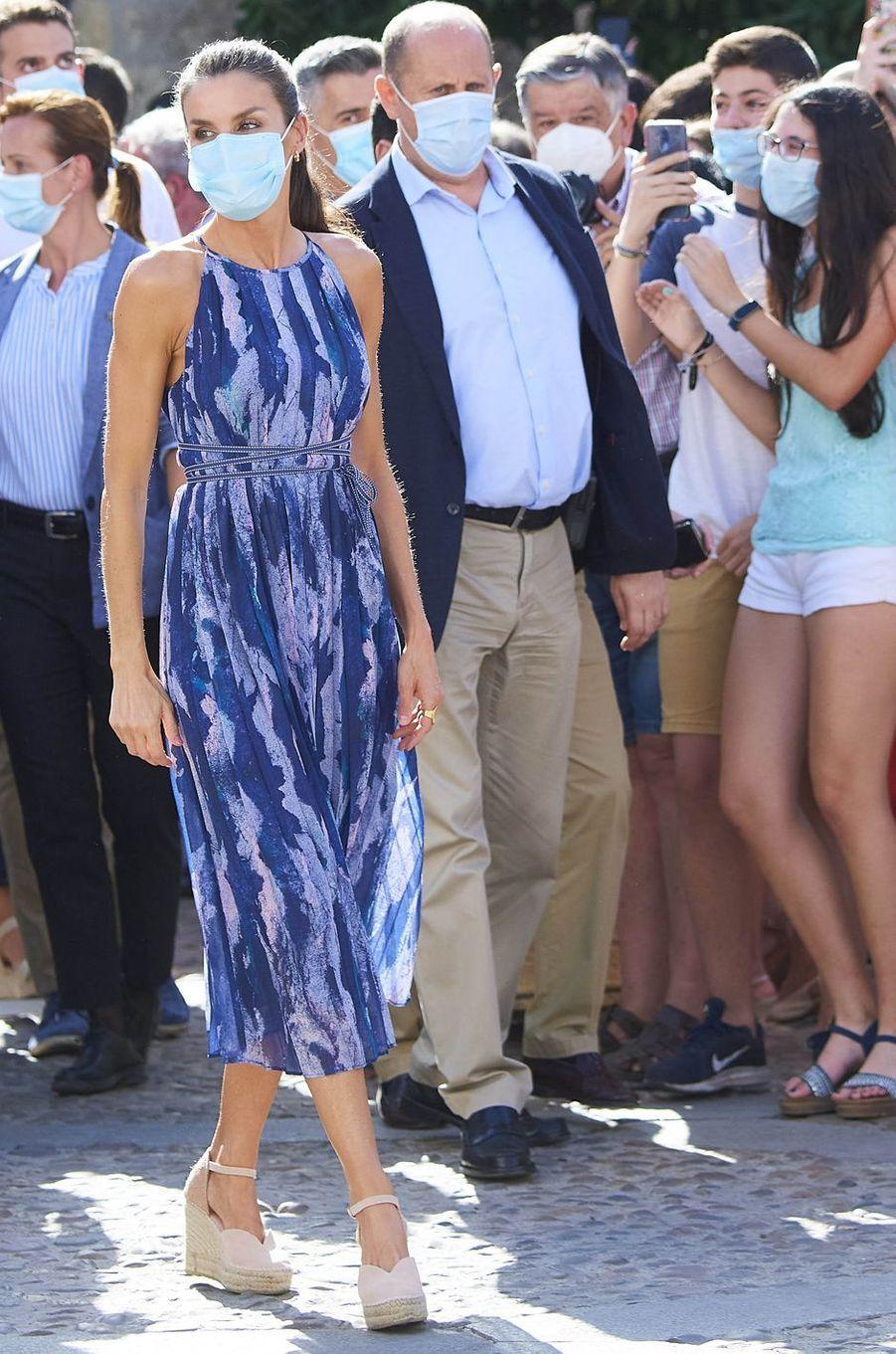 La reine Letizia d'Espagne en Andalousie, le 29 juin 2020