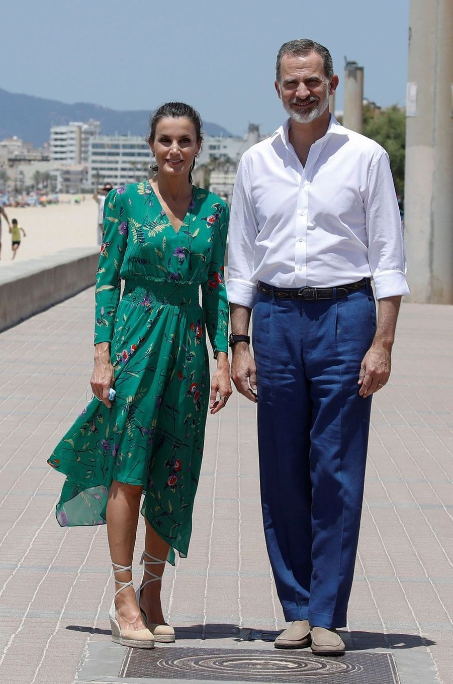 La reine Letizia d'Espagne à Palma de Majorque, le 23 juin 2020