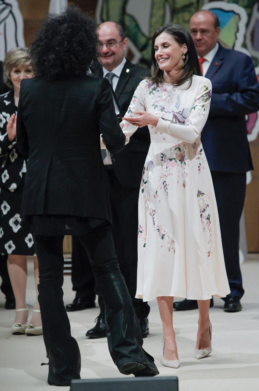 La reine Letizia d'Espagne à Saragosse, le 7 mai 2019
