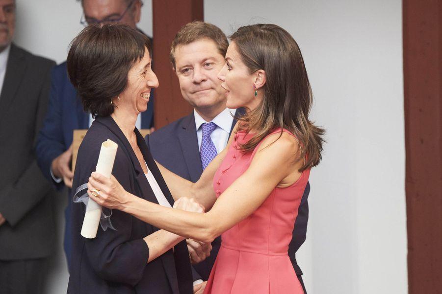 La reine Letizia d'Espagne à Almagro, le 9 juillet 2019