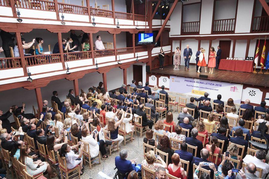 La reine Letizia d'Espagne remet les Prix Reina Letizia 2018 à Almagro, le 9 juillet 2019