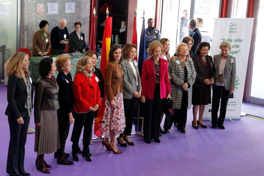 La reine Letizia d'Espagne et l'ex-reine Sofia à Madrid, le 19 novembre 2019