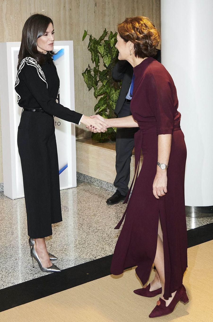 La reine Letizia d'Espagne à Madrid, le 10 décembre 2019