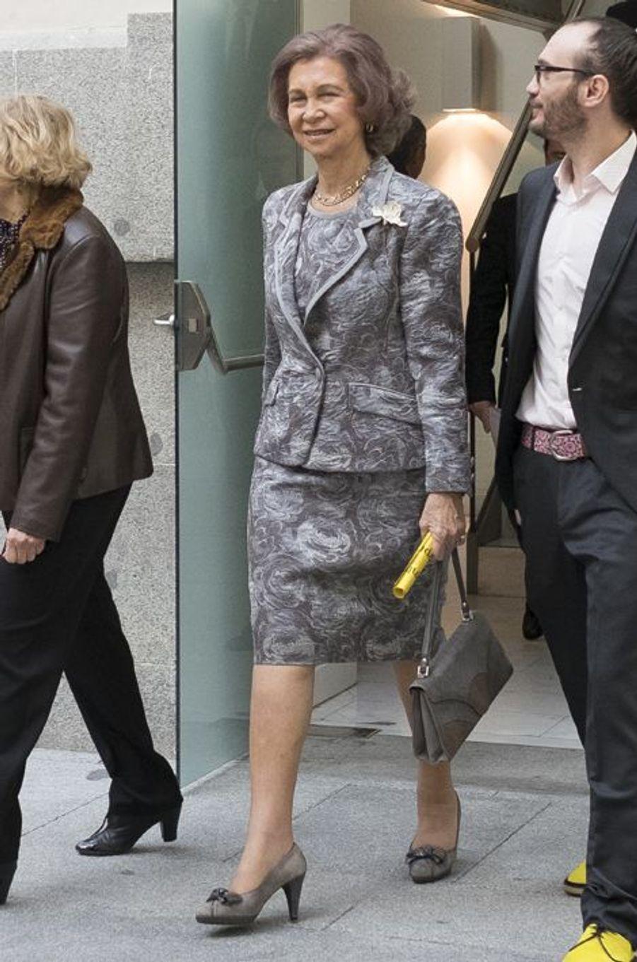 L'ex-reine Sofia d'Espagne à Madrid, le 30 octobre 2015