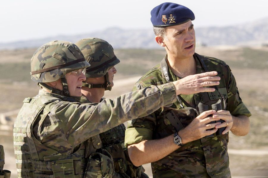 Le roi Felipe VI d'Espagne à Saragosse, le 30 octobre 2015