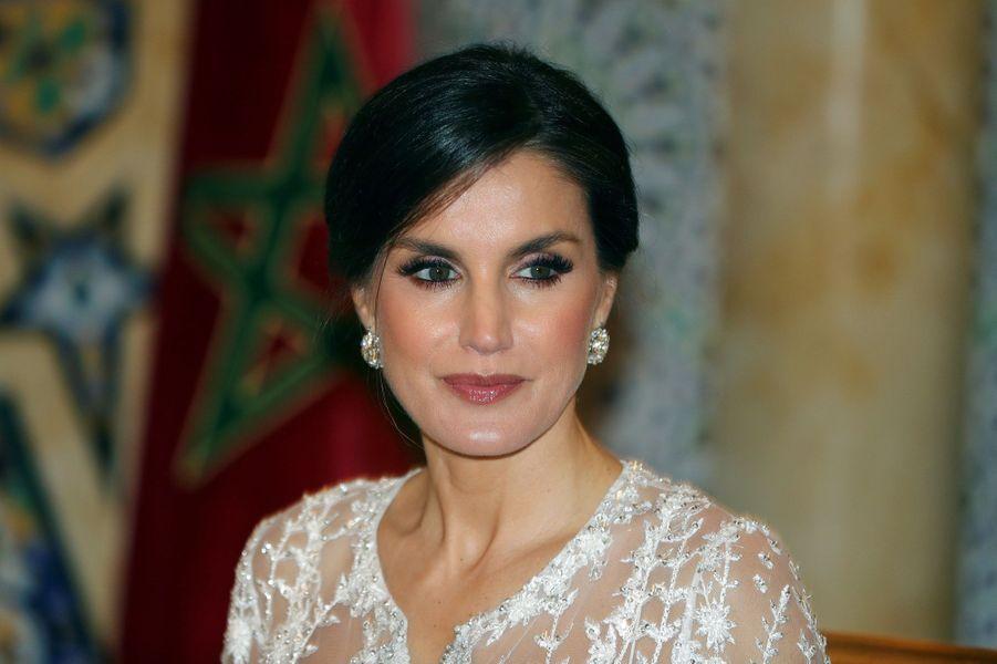 La reine Letizia d'Espagne à Rabat, le 13 février 2019