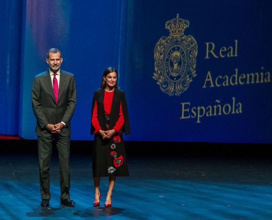 La reine Letizia et le roi Felipe VI d'Espagne à Séville, le 8 novembre 2019