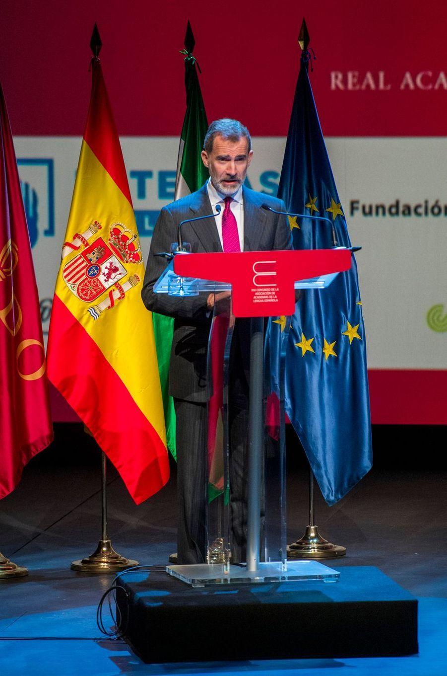 Le roi Felipe VI d'Espagne à Séville, le 8 novembre 2019