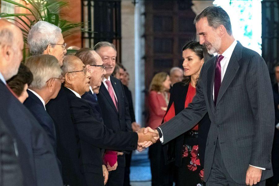 La reine Letizia et le roi Felipe VI d'Espagne, le 8 novembre 2019 à Séville