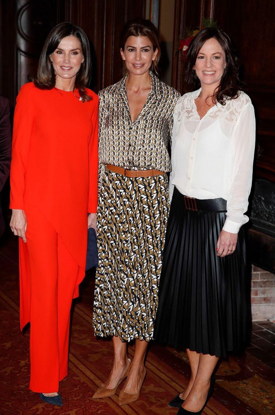 La reine Letizia d'Espagne avec Juliana Awada à Buenos Aires, le 26 mars 2019