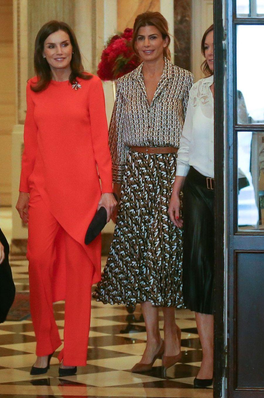 La reine Letizia d'Espagne avec la First Lady d'Argentine Juliana Awada à Buenos Aires, le 26 mars 2019