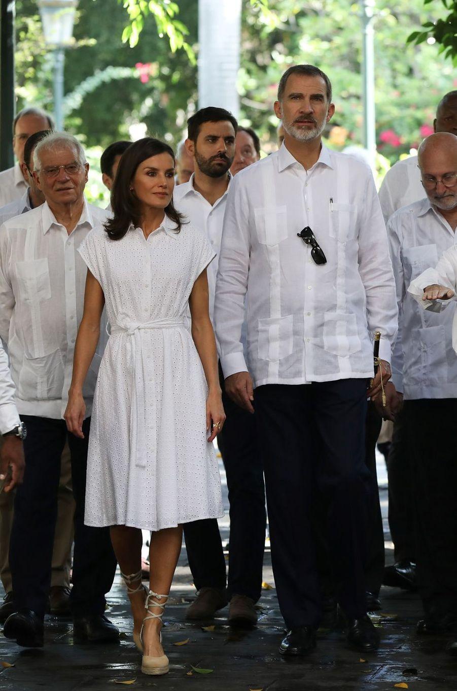 La reine Letizia et le roi Felipe VI d'Espagne visitent La Havane, le 13 novembre 2019