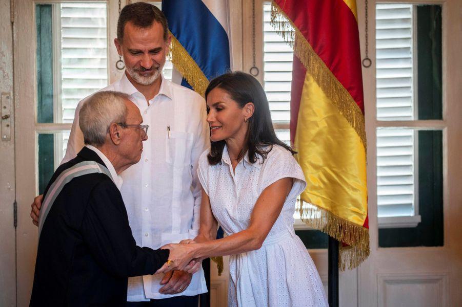 Le roi Felipe VI et la reine Letizia d'Espagne à La Havane, le 13 novembre 2019