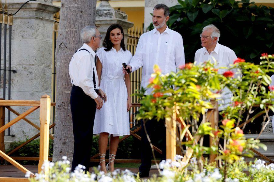 La reine Letizia et le roi Felipe VI d'Espagne, le 13 novembre 2019 à La Havane