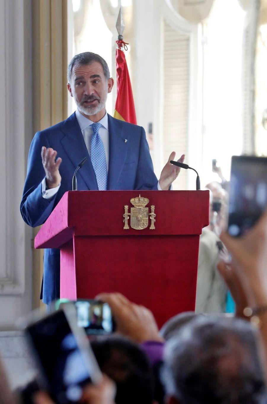 Le roi Felipe VI d'Espagne à La Havane, le 13 novembre 2019