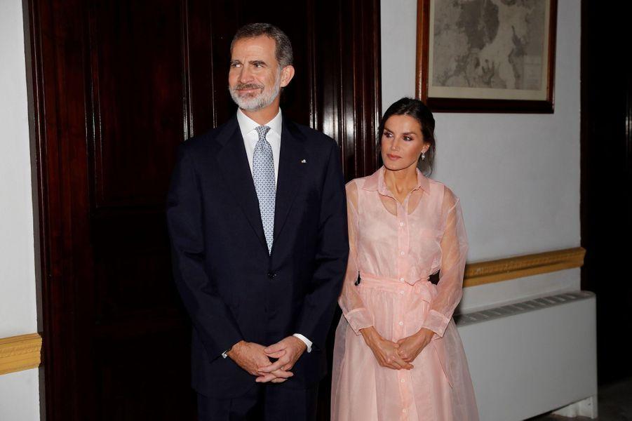 La reine Letizia et le roi Felipe VI d'Espagne à La Havane, le 13 novembre 2019
