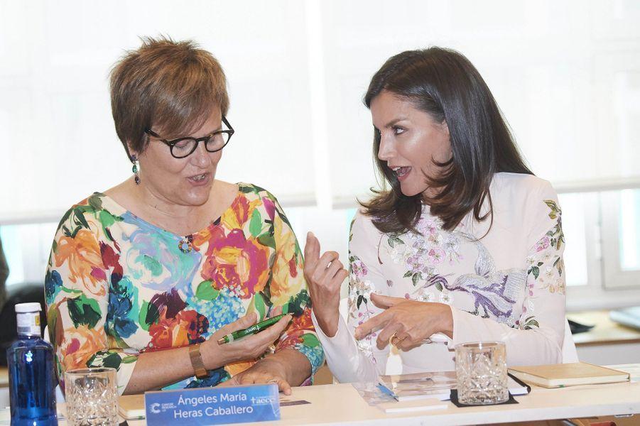 La reine Letizia d'Espagne à Madrid, le 8 juillet 2019