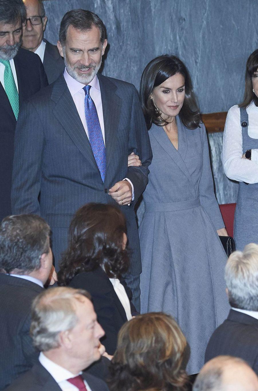 Le roi Felipe VI et la reine Letizia d'Espagne à Madrid, le 26 novembre 2019