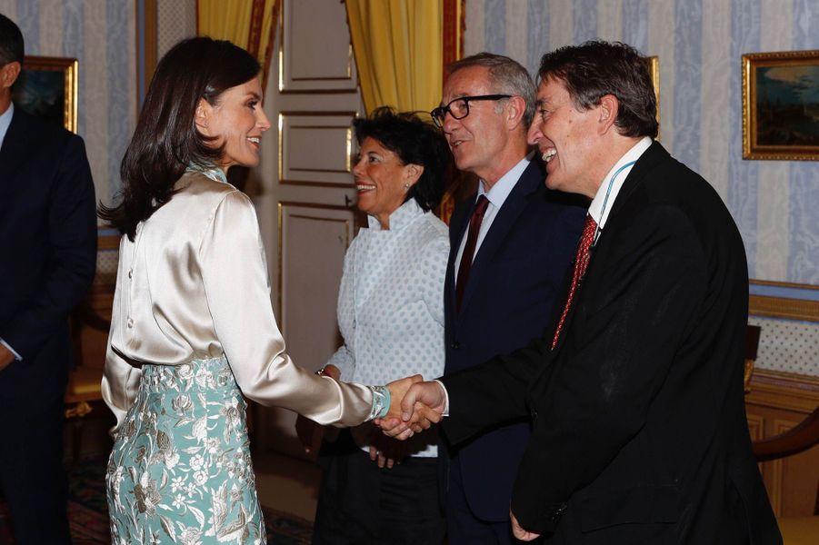 La reine Letizia d'Espagne, le 2 octobre 2019 à Aranjuez