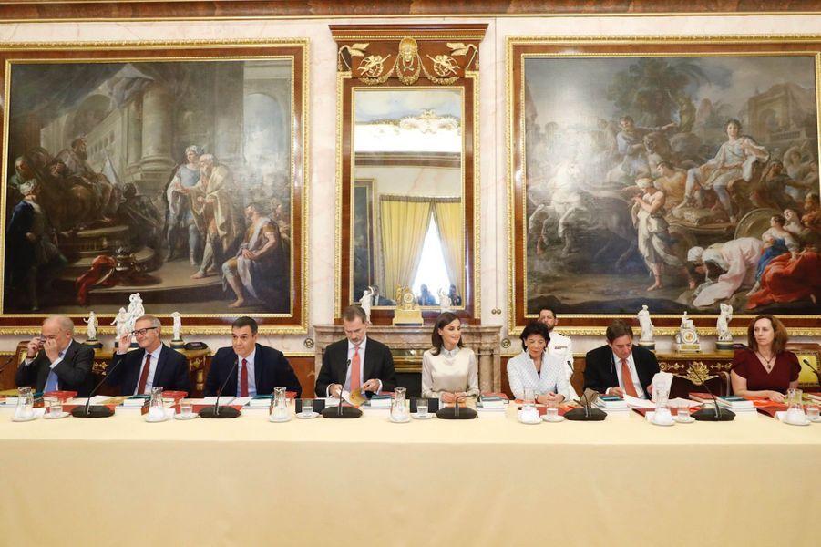 La reine Letizia et le roi Felipe VI d'Espagne à Aranjuez, le 2 octobre 2019