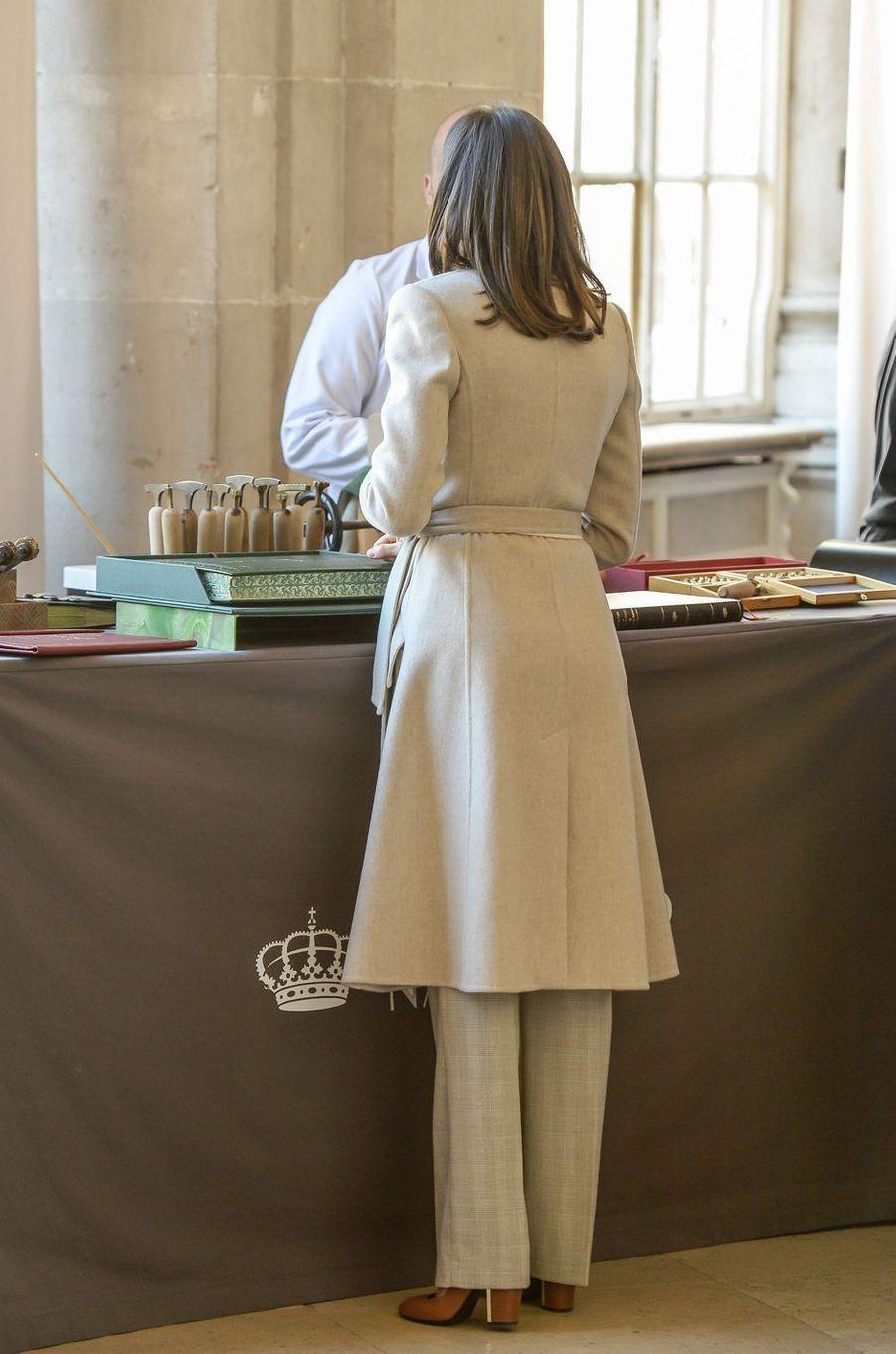 La reine Letizia d'Espagne à Madrid, le 29 novembre 2018