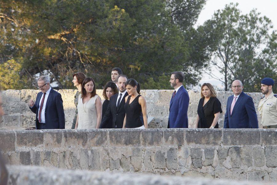 La reine Letizia d'Espagne au château de Bellver sur l'île de Majorque, le 2 juillet 2019