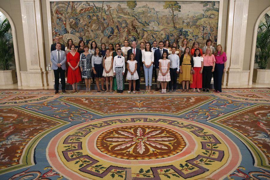 La reine Letizia d'Espagne à Madrid, le 27 juin 2019