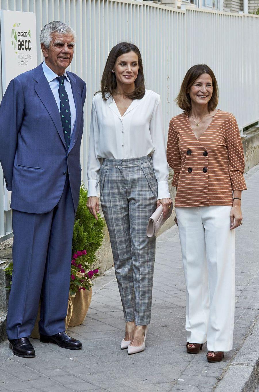 La reine Letizia d'Espagne à Madrid, le 1er juillet 2019
