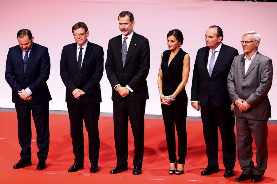 La reine Letizia et le roi Felipe VI d'Espagne à Valence, le 7 novembre 2018