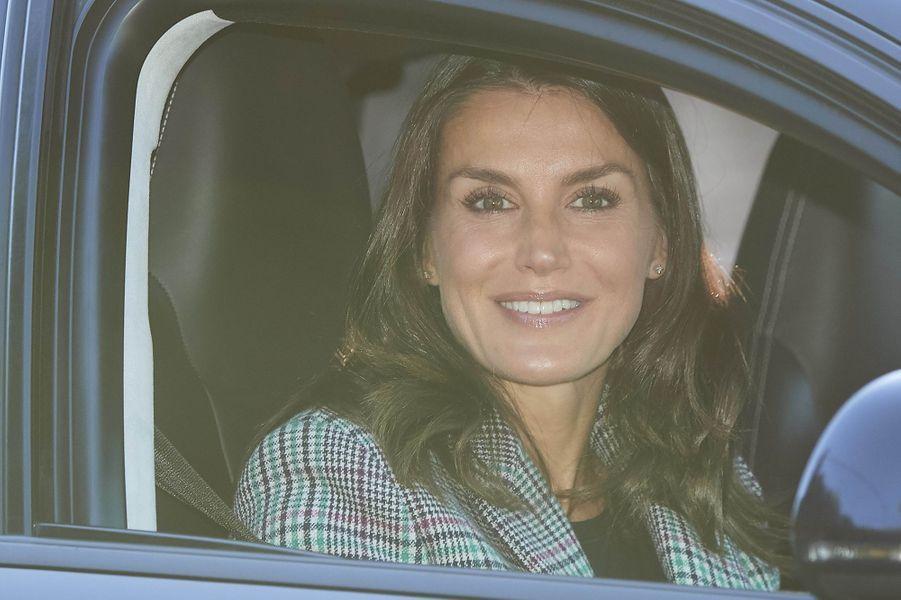 La reine Letizia d'Espagne à Madrid, le 11 septembre 2019