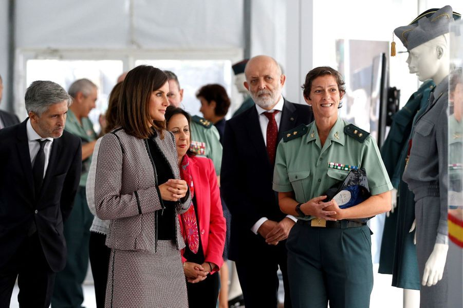 La reine Letizia d'Espagne à Madrid, le 26 septembre 2018