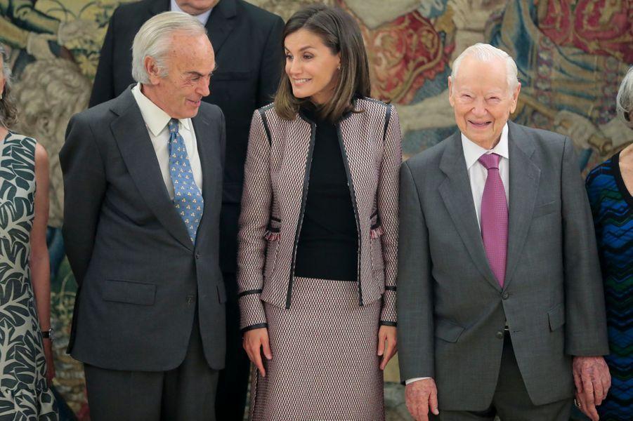 La reine Letizia d'Espagne au palais de la Zarzuela à Madrid, le 26 septembre 2018