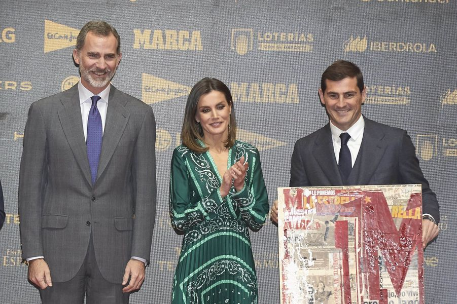 La reine Letizia et le roi Felipe VI d'Espagne à Madrid, le 13 décembre 2018
