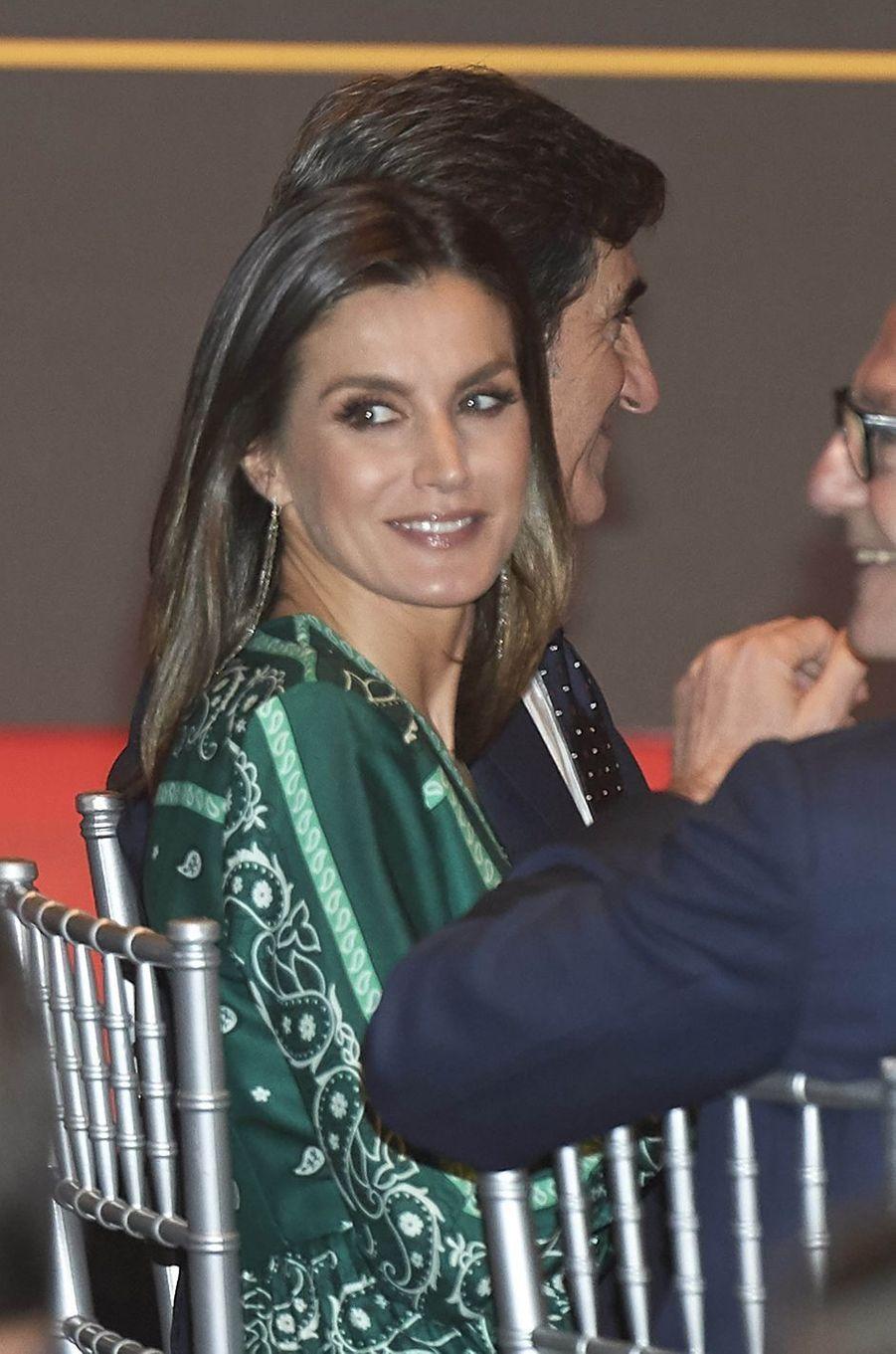 La reine Letizia d'Espagne à Madrid, le 13 décembre 2018