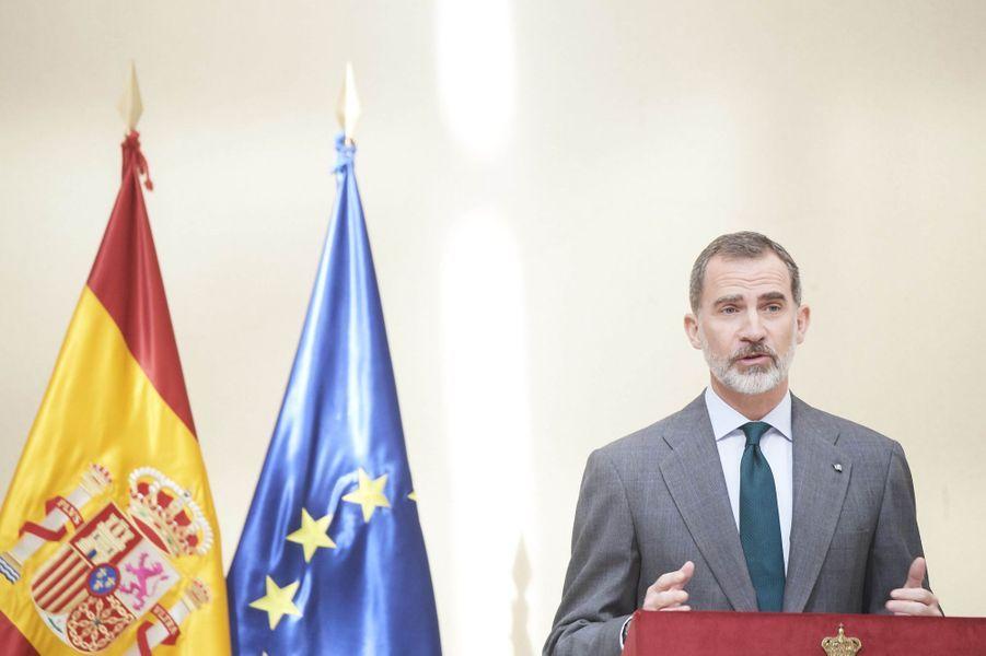 Le roi Felipe VI d'Espagne à Madrid, le 21 février 2019
