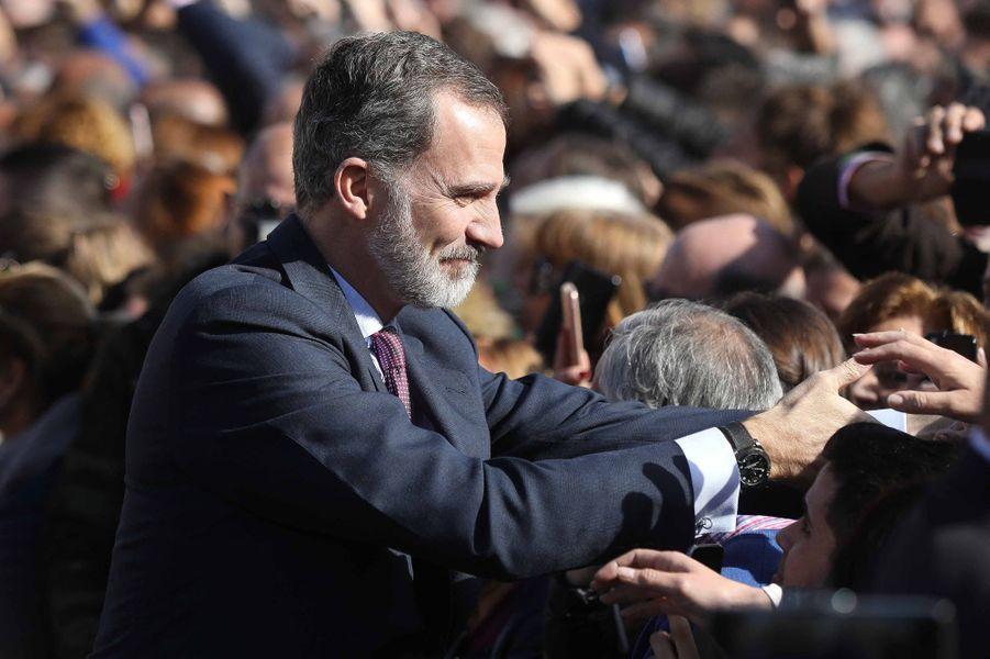 Le roi Felipe VI d'Espagne à Ecija, le 6 février 2020