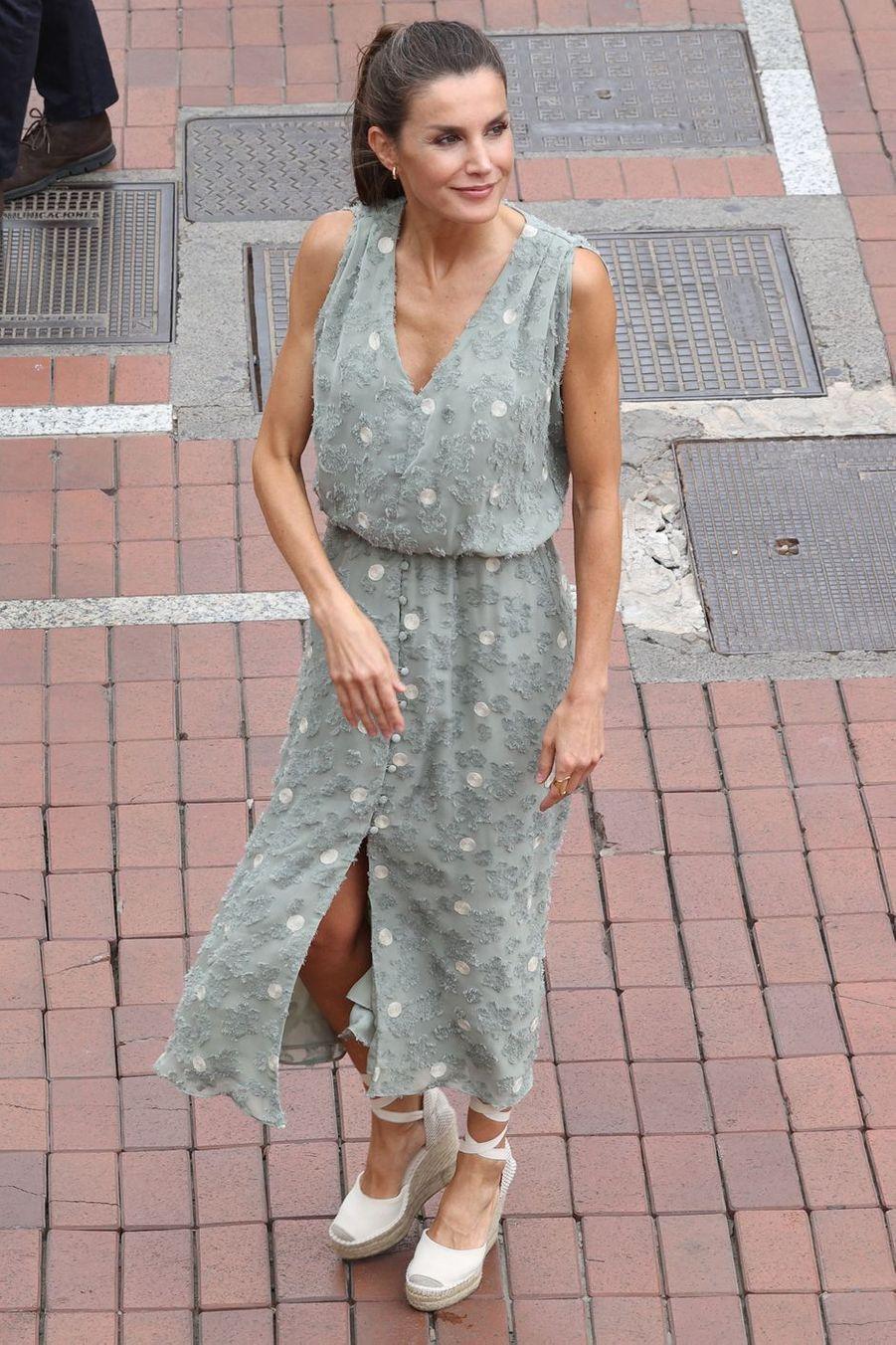 La reine Letizia d'Espagne à Las Palmas de Gran Canaria, le 23 juin 2020