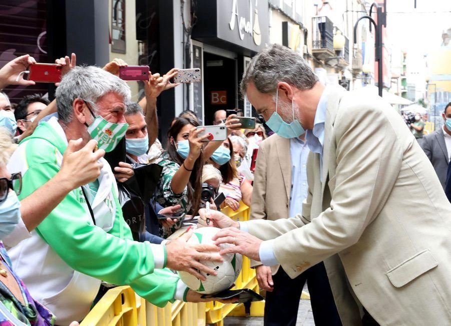 Le roi Felipe VI d'Espagne à Las Palmas de Gran Canaria, le 23 juin 2020