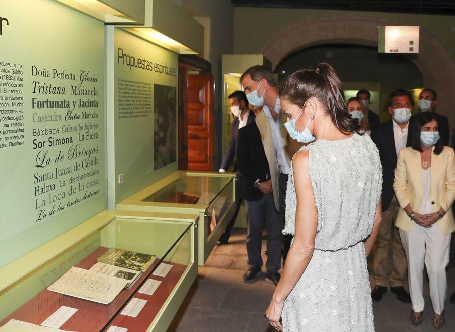 La reine Letizia et le roi Felipe VI d'Espagne, le 23 juin 2020 à Las Palmas de Gran Canaria