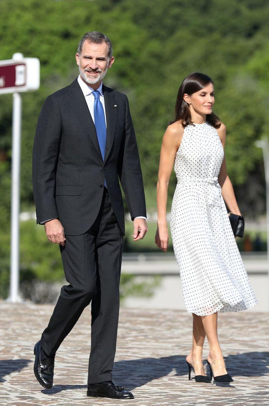 La reine Letizia et le roi Felipe VI d'Espagne à La Havane à Cuba, le 12 novembre 2019