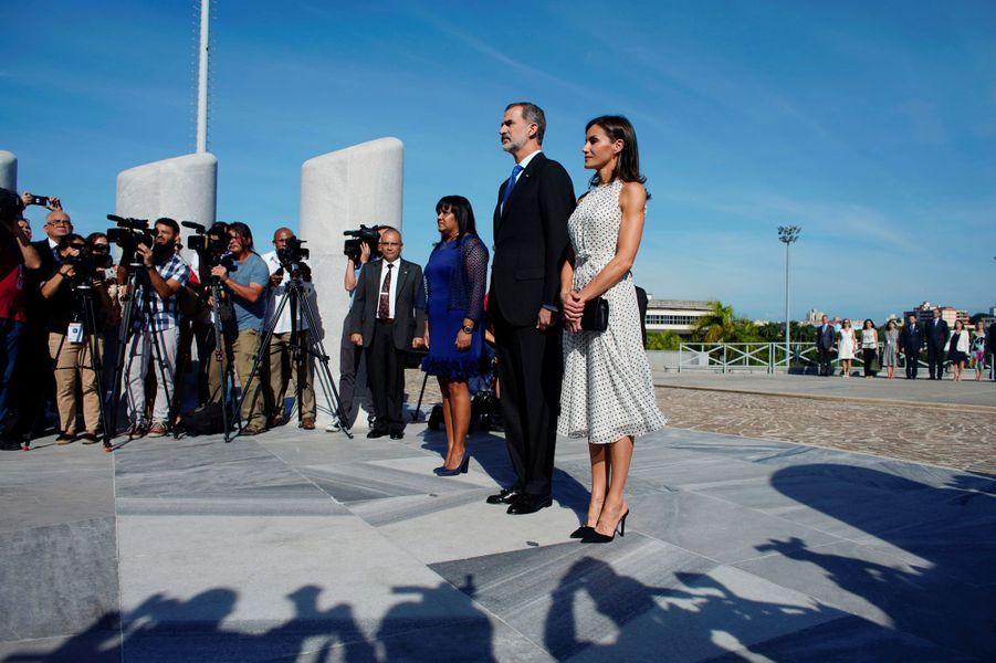 La reine Letizia et le roi Felipe VI d'Espagne, le 12 novembre 2019 à La Havane