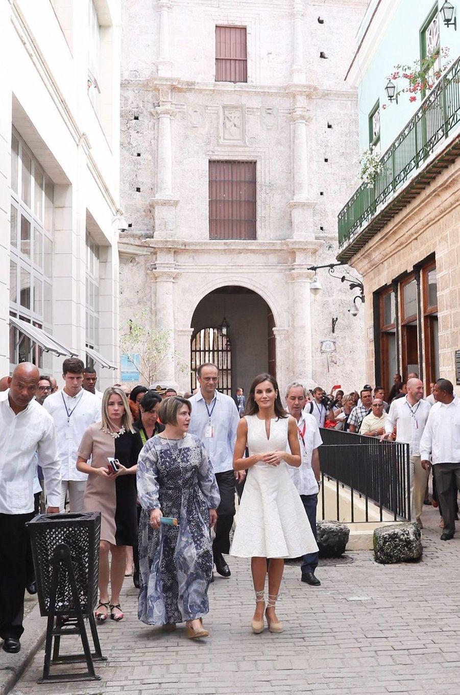 La reine Letizia et le roi Felipe VI d'Espagne à La Havane, le 12 novembre 2019